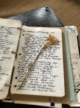 The journal with a pressed flower from 1970.